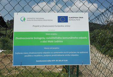 Zhodnocovanie biologicky rozložiteľného komunálneho odpadu v obci Malé Lednice