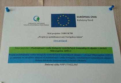 Predchádzanie vzniku biologicky rozložiteľných komunálnych odpadov v obciach Mikroregiónu Adela