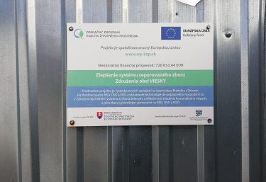 Zlepšenie systému separovaného zberu Združenia obcí VIESKY