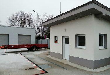 Zberný dvor v obci Liešťany